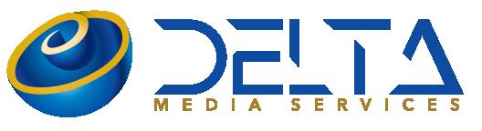 Delte Media Services Logo for white header