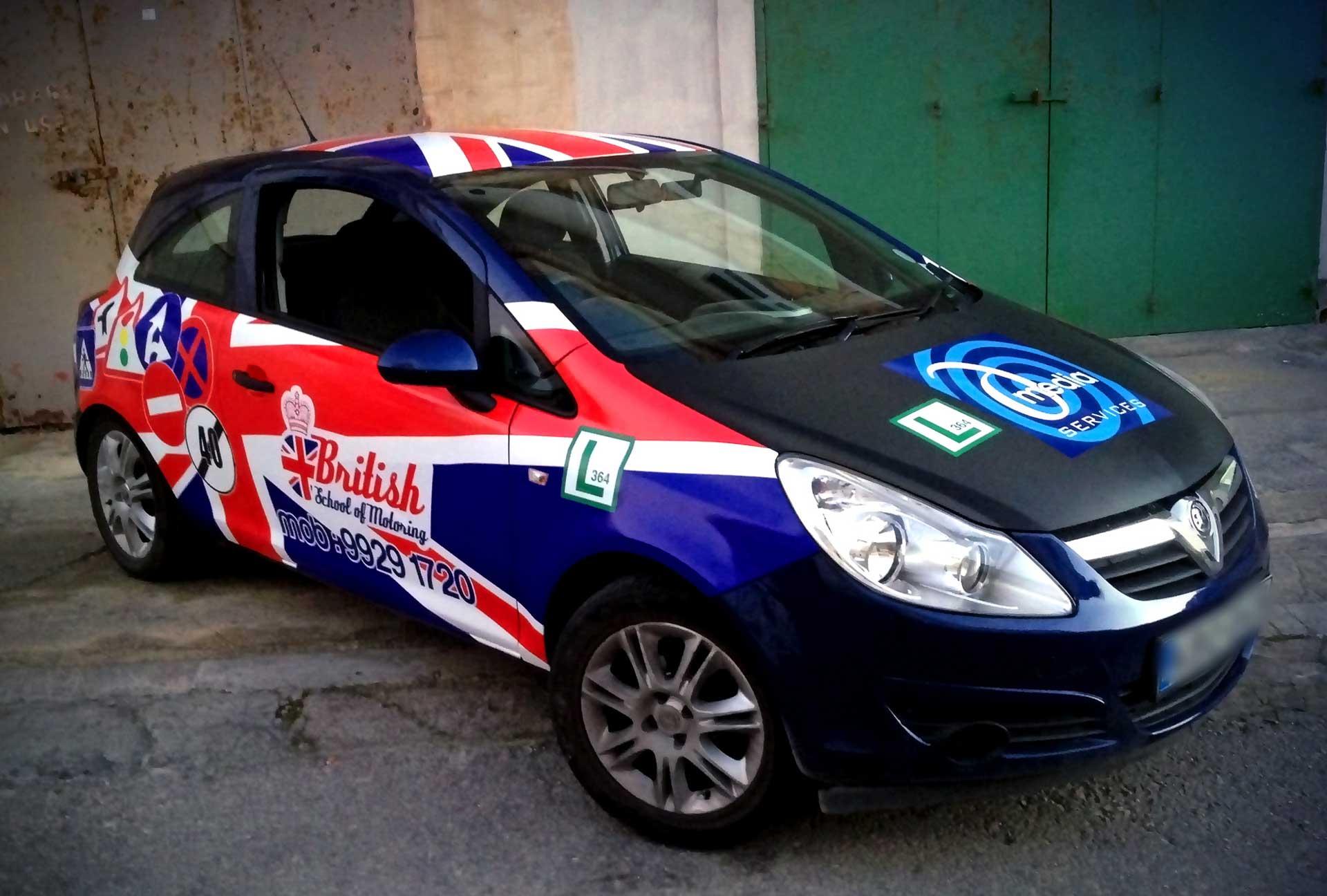 Vehicle Wrapping - British School of Motoring Car