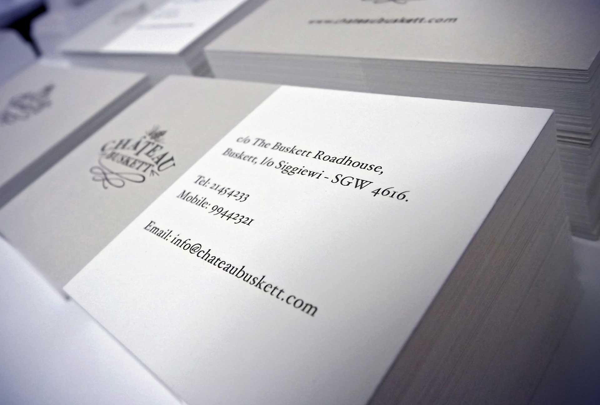 Business Cards - Chateau Buskett