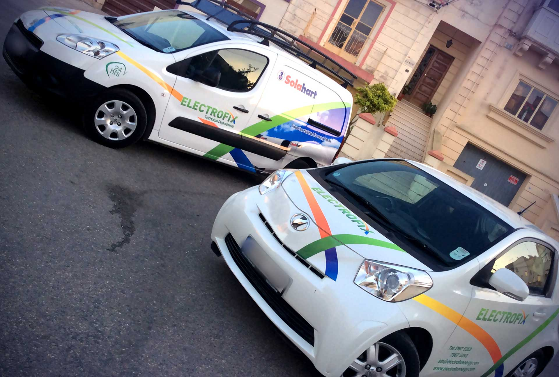Vehicle Wrapping - Electrofix Cars