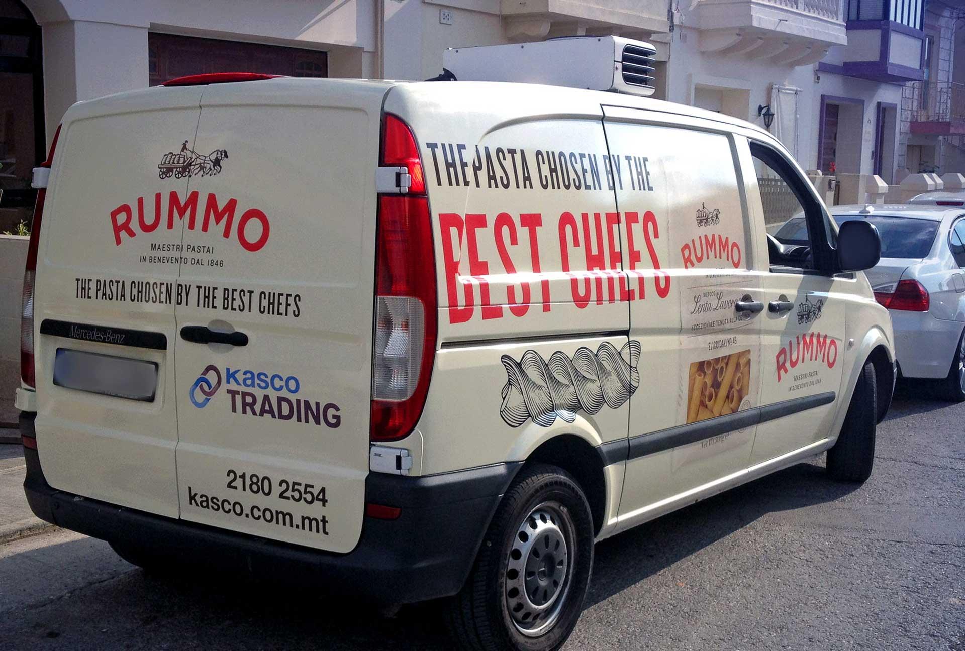 Vehicle Wrapping - Rummo Van