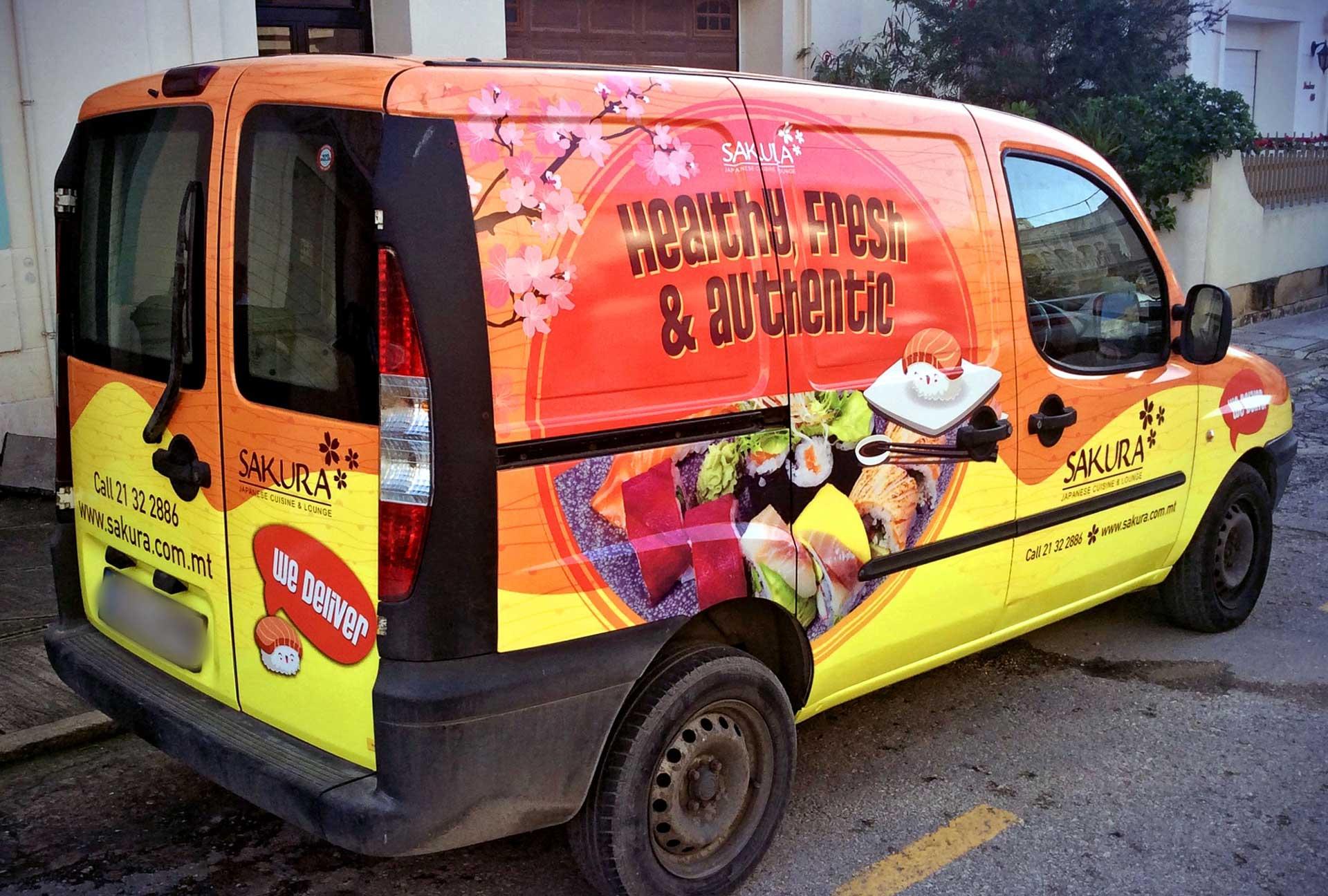 Vehicle Wrapping - Sakura Van