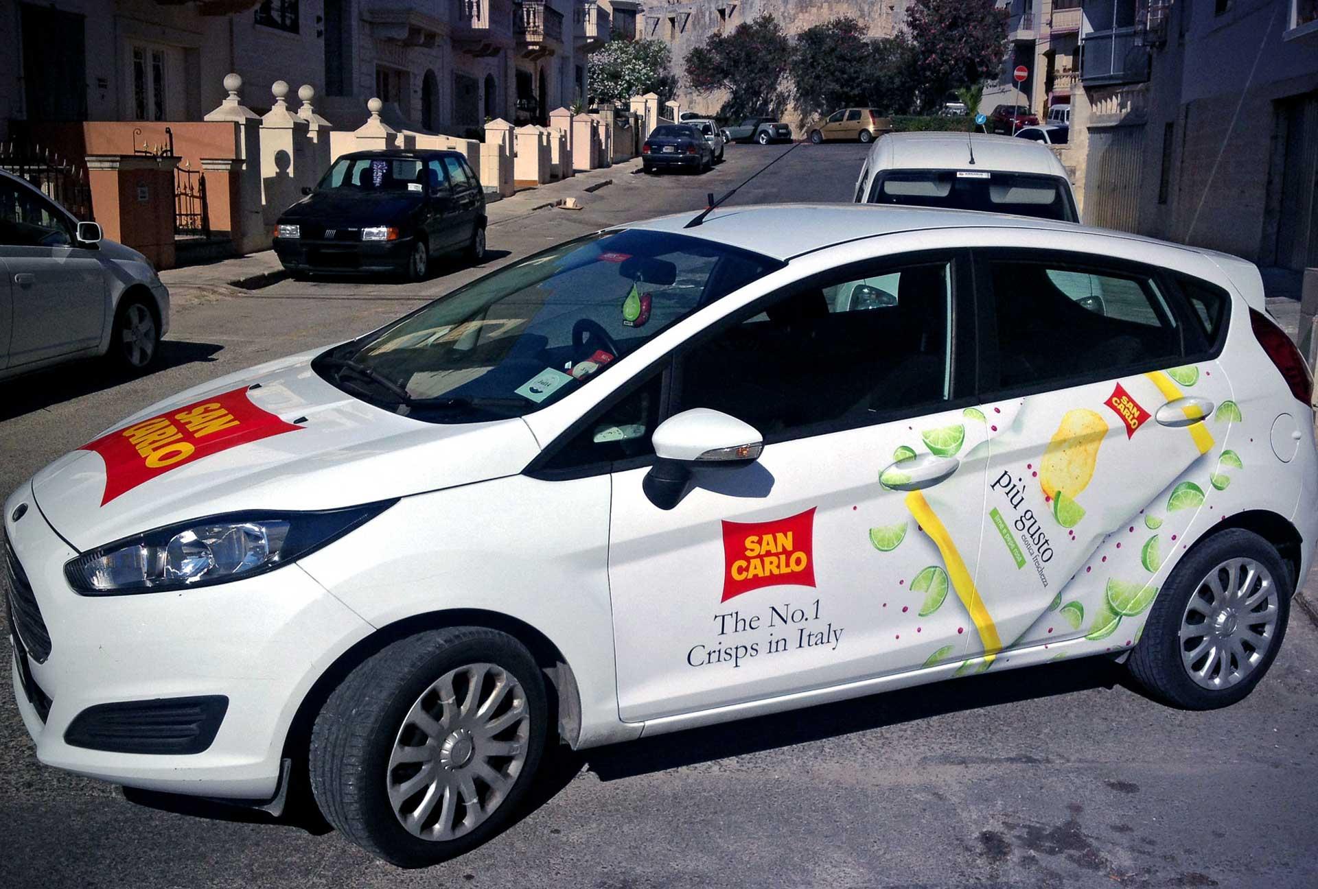 Vehicle Wrapping - San Carlo Car