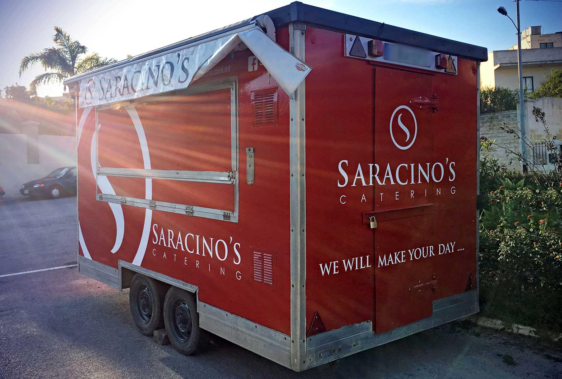 Vehicle Wrapping - Saracinos Trailer