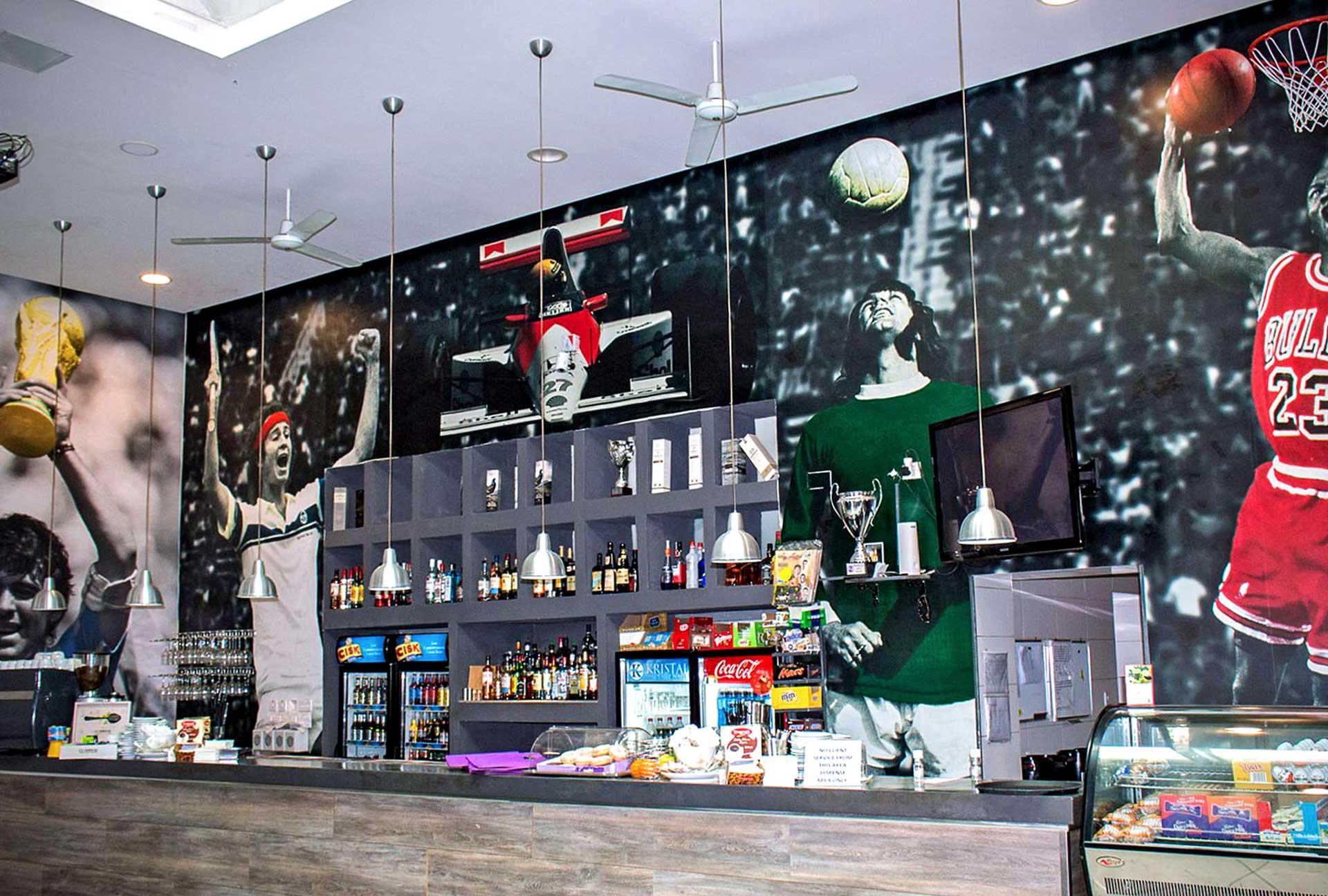 Wallpaper - Sports Bar Wallpaper Artwork