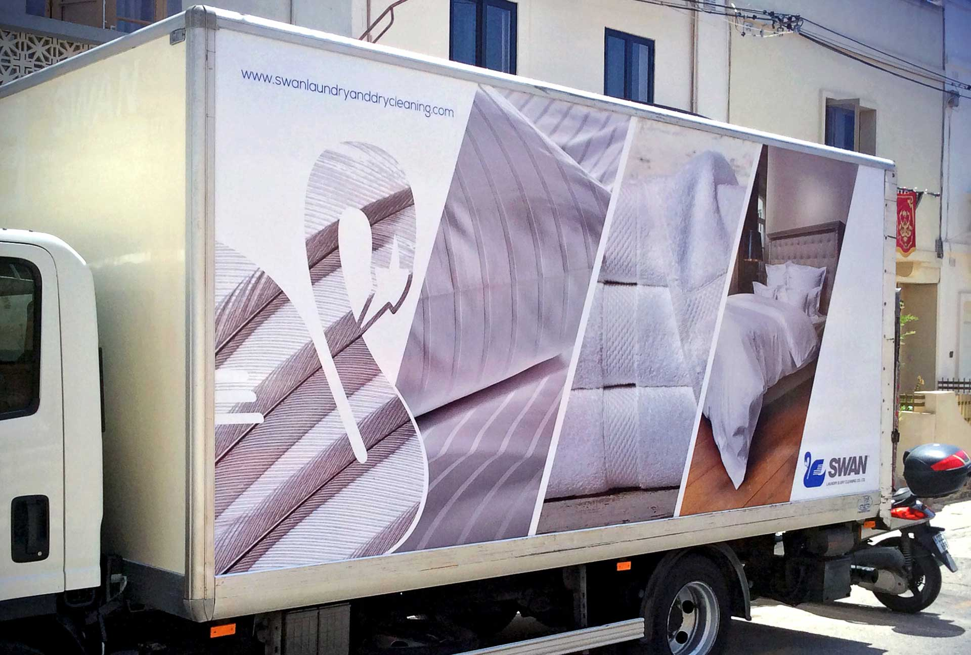 Vehicle Wrapping - Swan Truck